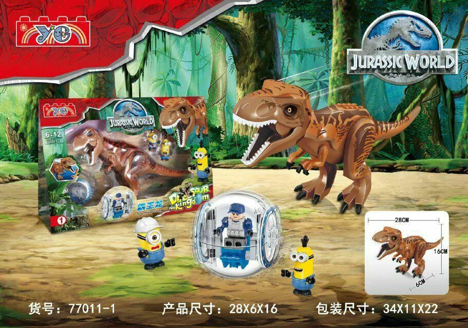 YE 77011-1 Super Heroes Avengers Assemble Jurassic World Figures Blocks Brown Trannosaurus Figures Children Best Toys simfer b6eo 77011