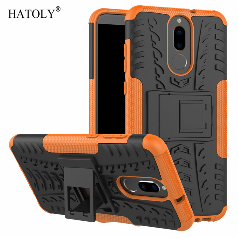 For Cover Huawei Mate 10 Lite Case Anti knock Heavy Duty Armor Cover Nova 2i Silicone Phone Bumper Case For Huawei Mate 10 Lite in Fitted Cases from Cellphones Telecommunications