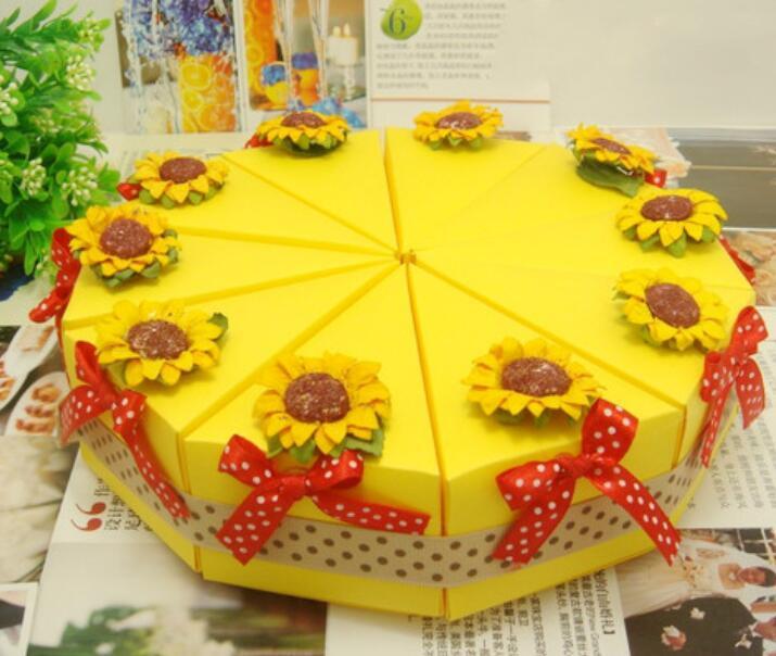 50pcs (5 Cakes) Creative Dry Flowers DIY Yellow Sunflower