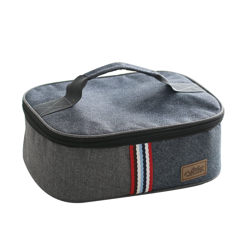 Denim Lunch Insulated Bags Family Picnic Bento Portable Box Drink Food Thermal Ice Cooler Leisure Mummy Pack Accessories Product