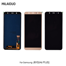 AMOLED/TFT LCD For Samsung Galaxy J8 2018 J810 SM-J810 LCD Display Touch Screen Digitizer Assembly Replacement Adjustable Bright цена и фото