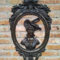 פליז עתיק ישן אומנויות & אמנות יופי אמנות פיסול אופנה תליות נחושת קיר קישוט הבית הקלאסי לחיות מחמד בודה