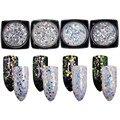 4 Colors Laser Nail Sequins Sparkly Colorful Glitter Paillette Manicure Nail Art Decoration