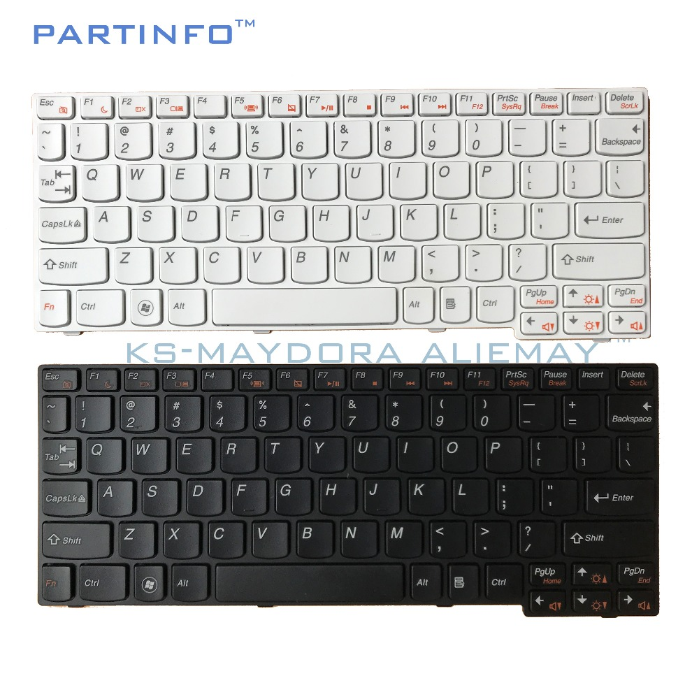 Piezas originales del ordenador portátil para LENOVO IdeaPad S110 S100 S10-3 M13 MA3 S10-3S MP-09J63US686 teclado color: blanco/negro