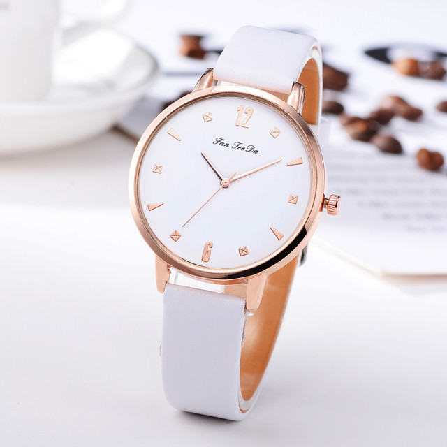 watches women quartz wristwatch clock ladies Ladies Watches quartz leather strap