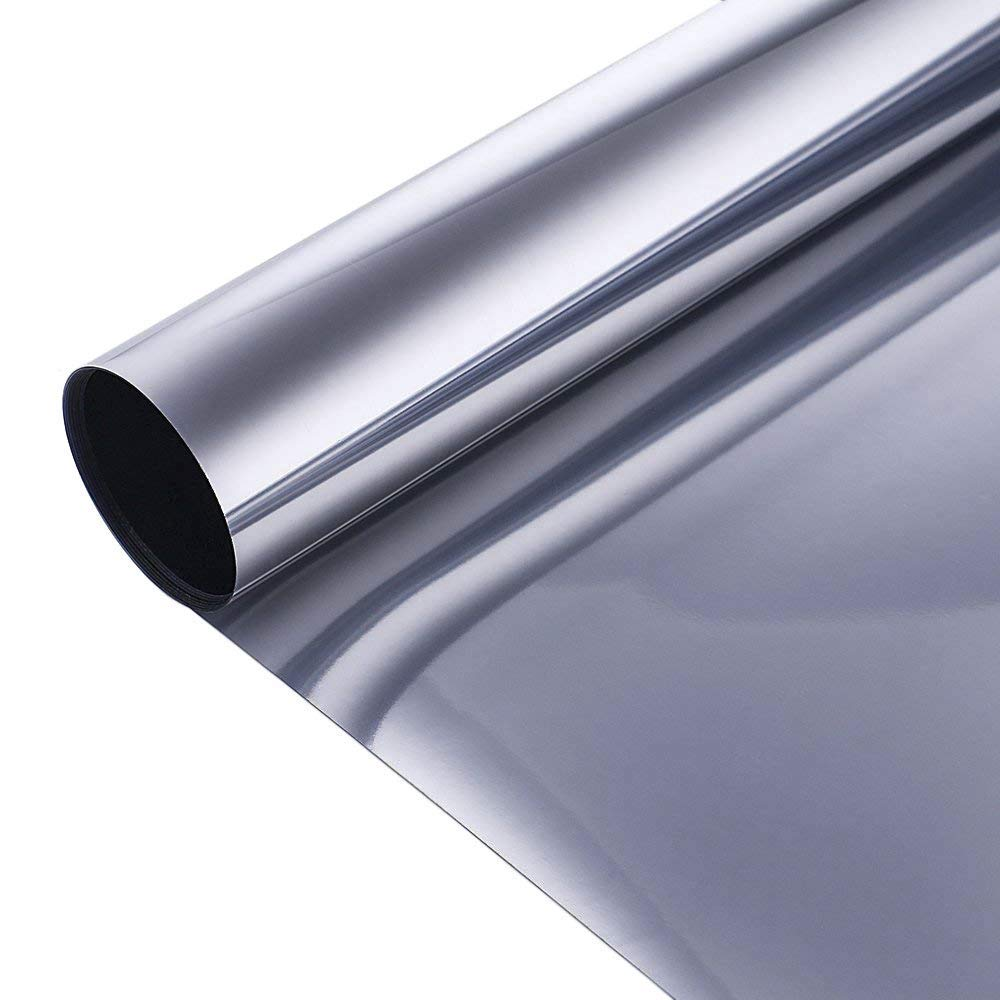 1 52x60m Wholesale Silver Silver Solar tint Window Film One Way Mirror Window Tint Home Privacy