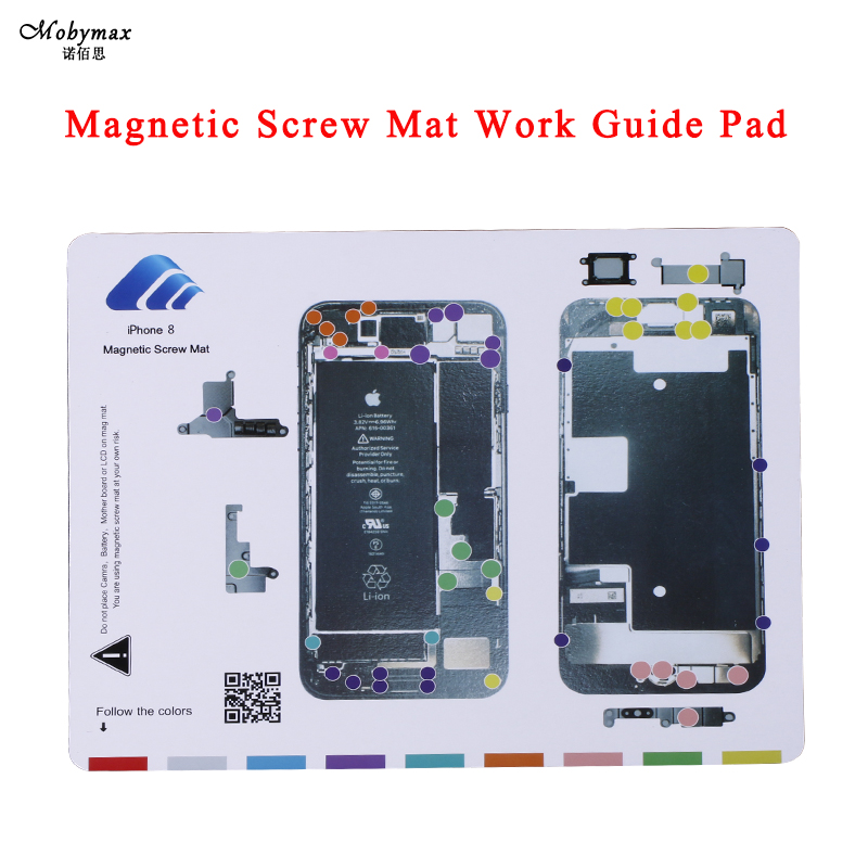 Magnetic Screw Mat Work Guide Pad for iphone X 5 4 4s 8 8 plus 7 Professional Plate Repair Tools for iphone 8plus Memory Boards