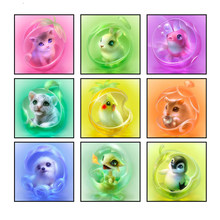 5d Full Square Drill Diy Diamond Painting Cross Stitch Colorful Cute Animals Rhinestones Embroidery Full Round Arts Mosaic Kits(China)
