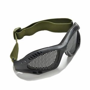 Image 1 - חיצוני שחור טקטי CS איירסופט פיינטבול מתכת Mesh Goggle עיניים מגן משקפיים חיצוני ספורט Eyewear סיטונאי