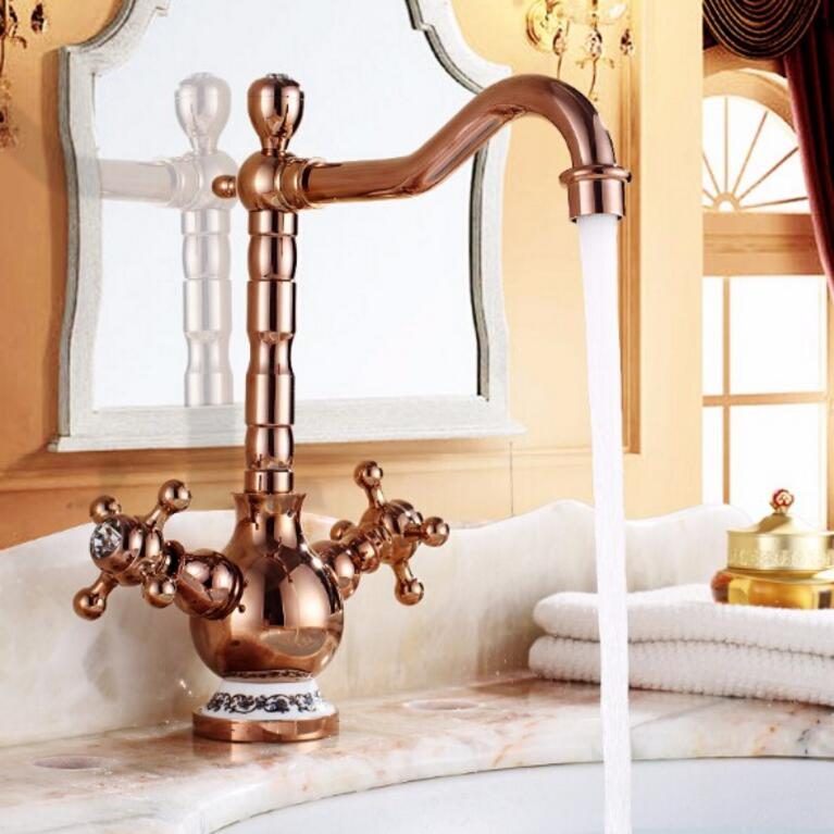 New Arrivals Gold Brass Basin Faucet Deck Mounted Kitchen Swivel Sink faucet Bathroom basin Faucet mixer Kitchen faucetNew Arrivals Gold Brass Basin Faucet Deck Mounted Kitchen Swivel Sink faucet Bathroom basin Faucet mixer Kitchen faucet
