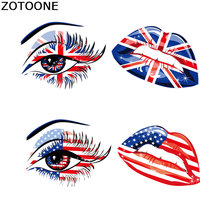 ZOTOONE Flag Patch Iron Patches for Clothing Woman Applique Thermo Stickers on Clothes T-shirt Heat Transfers Transfer E
