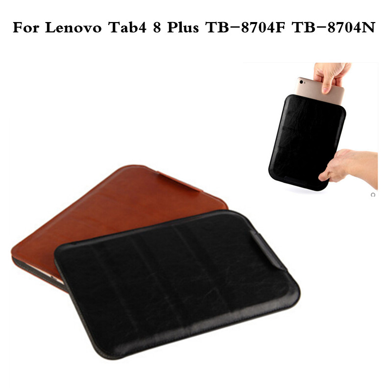 New design high quality PU Leather Sleeve Bag Case For Lenovo Tab4 8 Plus TB-8704F TB-8704N Tablet Pouch Stand Cover new design high quality pu leather sleeve bag case for lenovo tab4 8 plus tb 8704f tb 8704n tablet pouch stand cover
