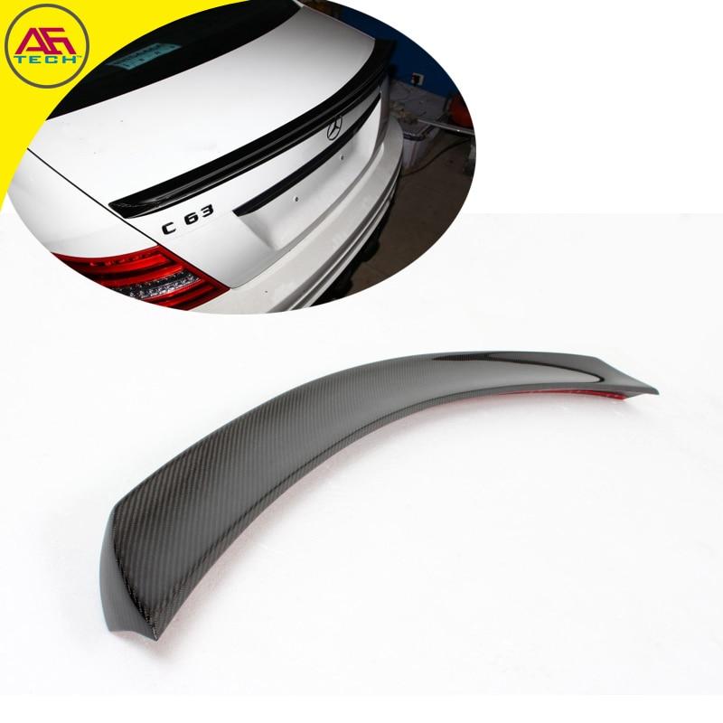 Carbon Fiber V Style W204 4doors Car Rear Trunk Spoiler