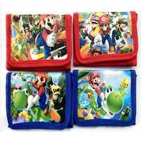 Bolsa de cartera de dibujos animados para niños, figuras de acción de Super Mario, Mario Brother, diseño de Cremallera de nailon, 1 Uds.
