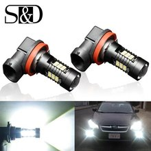 HENYNET 2Pcs H8 H11 Led HB4 9006 HB3 9005 Fog Light Bulb 1200LM 6000K White Car Daytime Running Lamp Auto Parts(China)