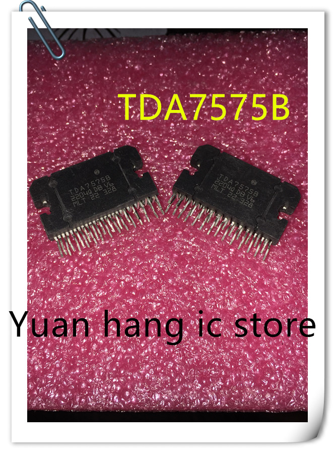 5PCS/LOT Free Shipping TDA7575B ZIP TDA7575  7575B 7575 ZIP-27 Car Audio Amplifier Chip  New Original