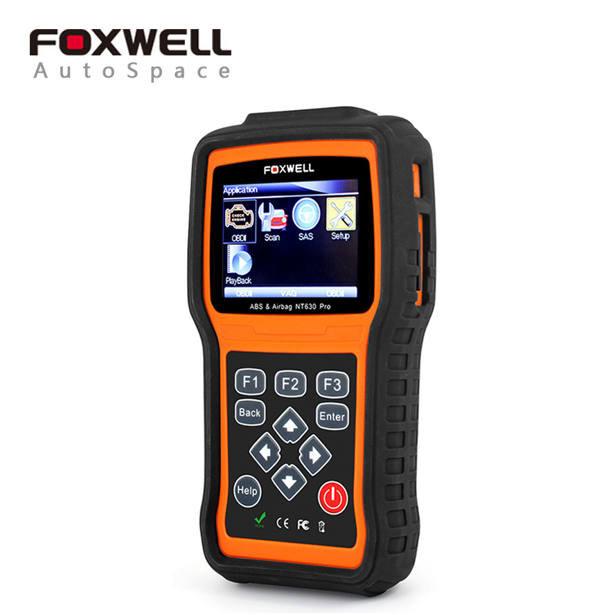 Foxwell nt630 pro srs airbag crash data reset tool abs sas steering wheel angle device engine obd obd2 error code scanner