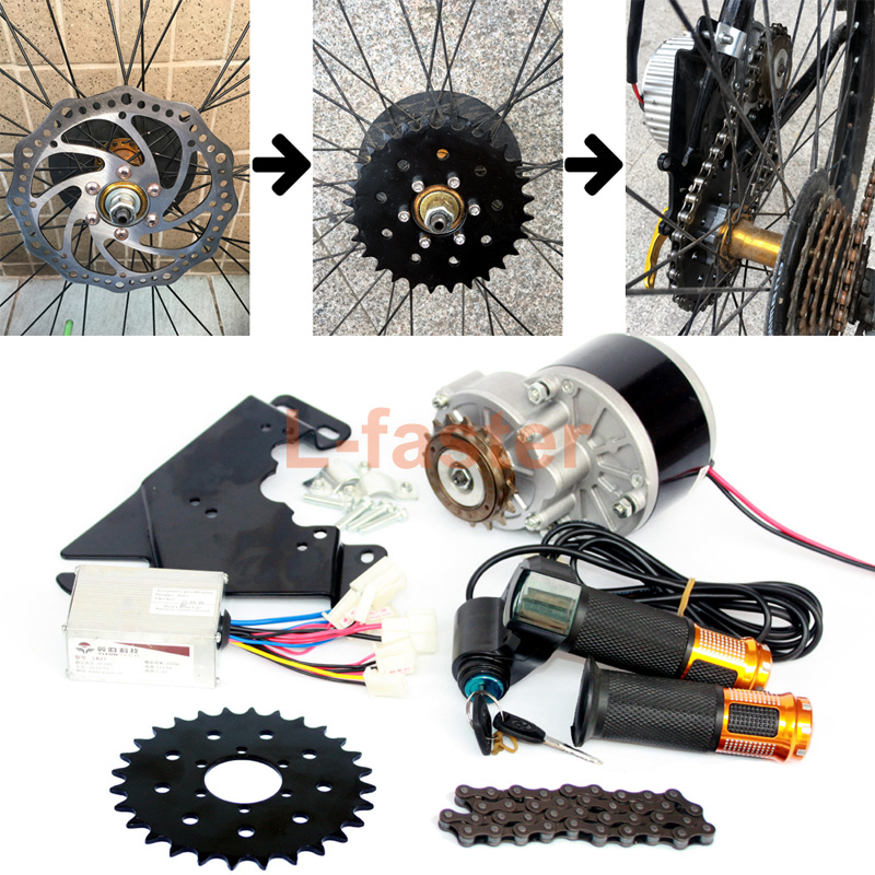 24V250W Electric Bike Left Side Drive Motor Kit Mountain Bicycle Conversion Kit Customized Electric Motor Kit