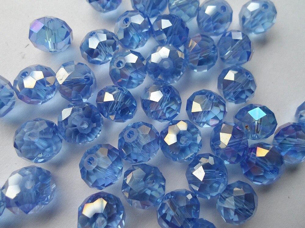 Paquete De 70 cuentas vidrio facetado ~ 8mm ~ acero luminosa