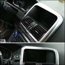 De coches de estilo de acero inoxidable decoración Pantalla de Navegación GPS box Para Volvo XC60 1 piezas