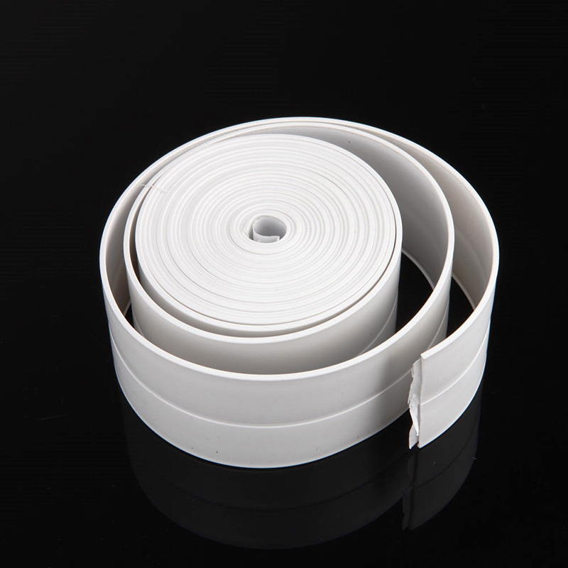 New Kitchen Bathroom Wall Sealing Tape PVC Waterproof Mildew Proof Crevice Corner Line Stick Strip Self-Sealing Tape 3.2mx2.2cm 1 roll pvc material kitchen bathroom wall sealing tape waterproof mold proof adhesive tape 3 2mx2 2cm