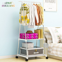 Triangle Coat Rack Stainless steel nonwovens Simple Assembly can be removed Bedroom move clothes hanger wardrobe