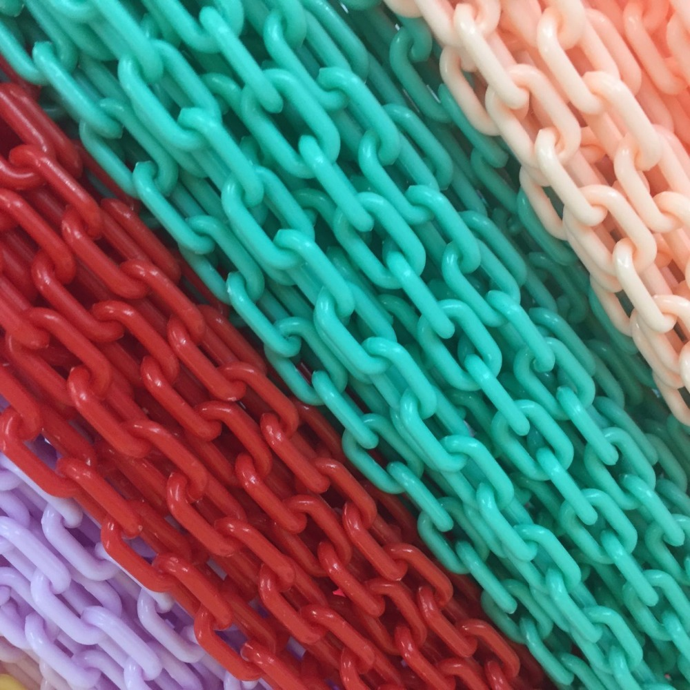 7MM/w 10Strands=4m Colorful Acrylic Jewellery Plastic Chain Jewelry Chains Jewelry Accessories Fittings