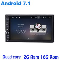 7 Inch 2 Din Android 7 1 Univresal Car Radio Gps Player Audio Stereo Navigation Double