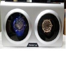 Jebely Blanco y Negro Doble Doble Doble Reloj Bobinadora Para Enrollar 2 Relojes Automáticos