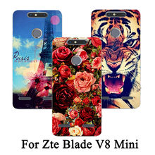 For ZTE Blade V8 mini Phone Case Newest Patterns Fashion Phone cover Case for ZTE V8 lite DIY colorful drawing cartoon case(China)