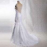 LZ231 2018 элегантность Бисер Кружево Свадебные платья Vestido De Noiva Низкая цена Высокое качество Свадебное платье