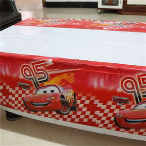 Image 3 - 1pcs 1.08x1.8M Cartoon Cars Theme Party Birthday Disposable Table Cloth Table Cover Map Party Supplies Decoration