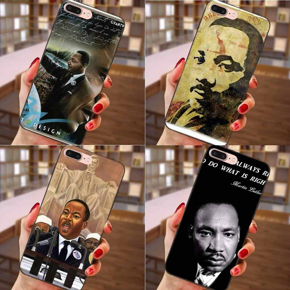 Soft Silicone TPU Black New Fashion Martin Luther King Dream For Apple iPhone 4 4S 5 5S SE 6 6S 7 8 Plus X XS Max XR