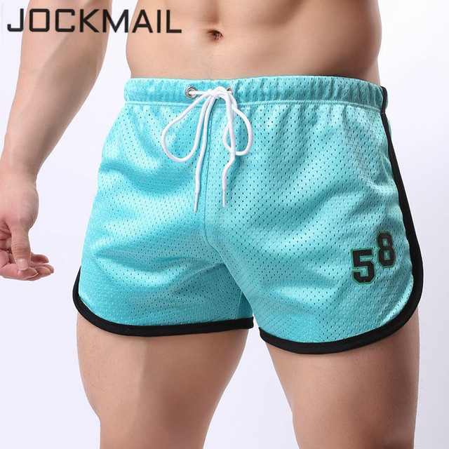 JOCKMAIL 2018 New Fashion Mesh Men's Shorts Fast Dry Retailer Home Sleepwear Underpants Men's Trunks Elastic Waist Mens Shorts