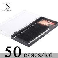 Thinkshow 50 лотки/lot отдельных ресниц BCD все Размеры 3D объема синтетических норки ресницы макияж инструменты