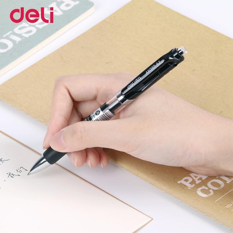 Deli gel pen&refill set office black ink stationery pen cute school supplies Creative stationery for writing High quality pen jianwu 10pcs set japan zebra jf 0 5 gel pen refill quick drying refill apply to jjz15 jj2 jj9