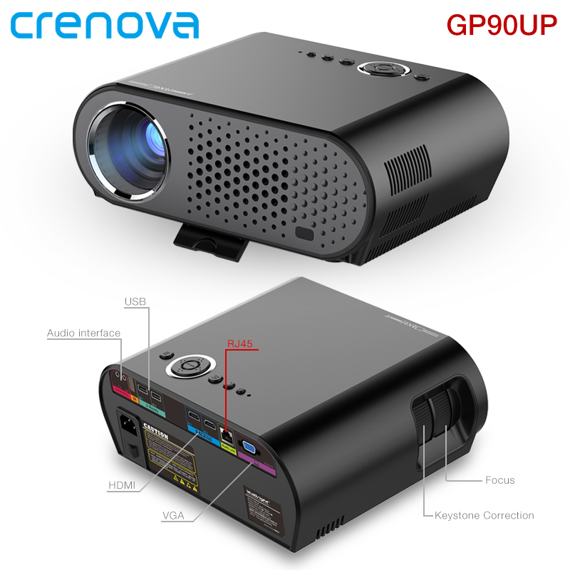 Crenova GP90UP LED Projector Built in Android 4 4 8GB ROM 1GB RAM WIFI Bluetooth Support