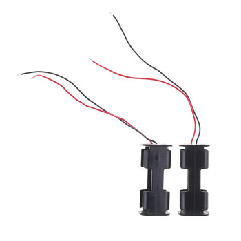 2pcs/lot Car Spare Parts RC Helicopter Accessoies Plastic AA Battery Case Holder Storage Box with Wire Leads for Model Toy ABS image