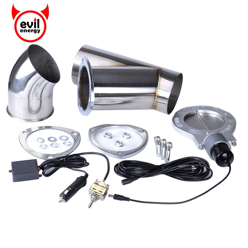 evil energy 4.0 Inch Stainless Steel Y Pipe Exhaust Cutout Car Muffler Accessory Parts Exhaust Catback Downpipe Exhaust Cut Out tansky high quality 2 inch inch piping switch electric 2 inch exhaust dumps cutout stainless steel cutouts tk cutout02
