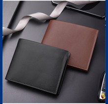 New Leather Wallet Men Fashion Bifold Male Short Card Wallet PU Leather Purse For Men Card Holder Coin Purse