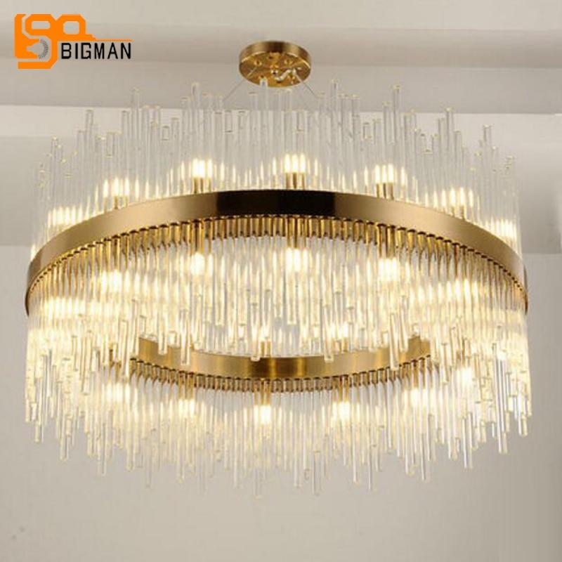 Nuovo design grande moderno lampadario soggiorno illuminazione AC110V 240 V oro luci lampadari hotel lobby wideth 100 cm