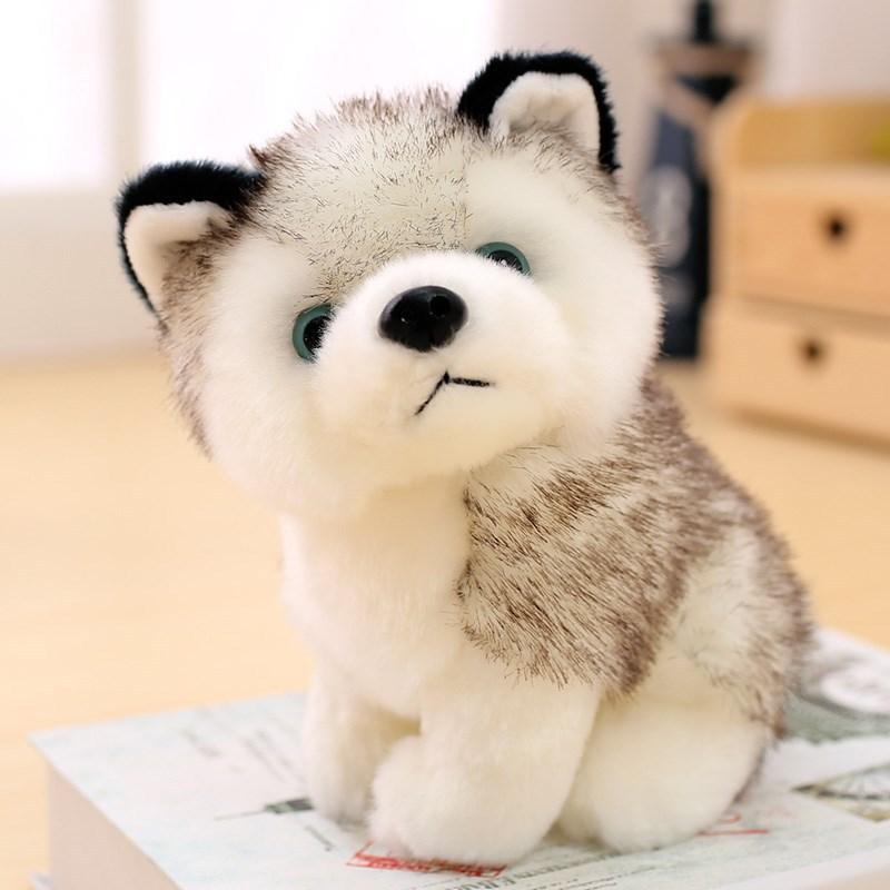 1 шт., симуляция хаски, милая собачья кукла, мягкие плюшевые животные, кавайный щенок, детские игрушки для детей, Рождественский подарок на де...