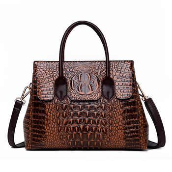 2019 New Vintage Genuine Leather Bag Women Alligator Luxury Handbags Women Bags Designer Crossbody Bags for Women Tote Handbags - DISCOUNT ITEM  41% OFF All Category