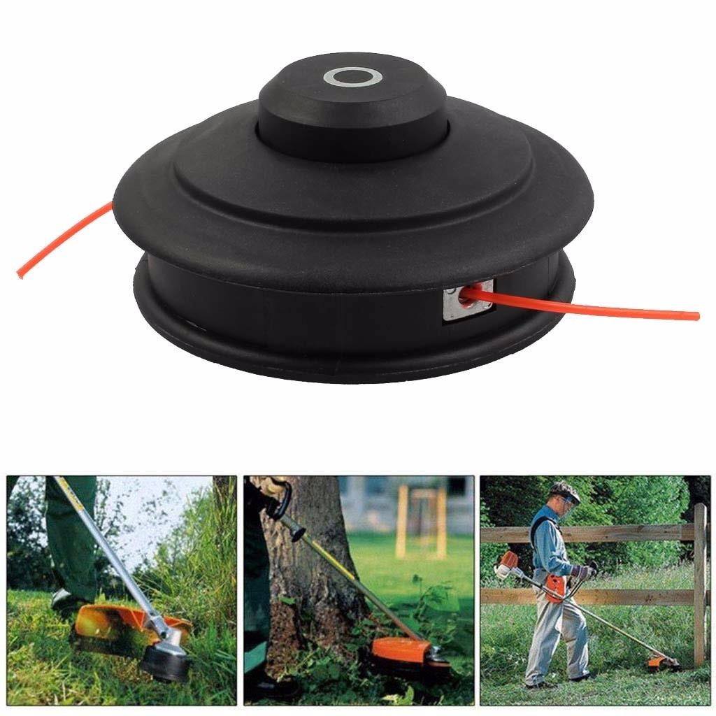 Lawn Mower Head Universal Bump Feed Line Trimmer Head Nylon Snipper Brush Grass Cutter M10x1.25 electric cutting blade 19jun25
