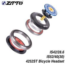 ZTTO 4252ST MTB Bike Road Bicycle Headset Tapered Straight Fork Integrated Angular Contact Bearing 42 41.8 52mm 1 1/8