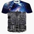2015 mais novo galaxy espaço impresso camisa criativo t 3d camiseta verão dos homens da novidade 3d feminina psicodélico tee camisas roupas
