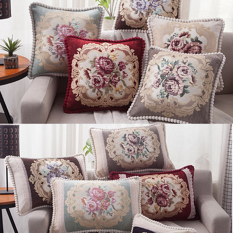 <font><b>50x50</b></font> 60x60 48x68 cm New Pattern Luxury European Sofa Throw <font><b>Pillow</b></font> <font><b>Case</b></font> Rectangle Cushion Decorative Back Lumbar Cushion Cover image