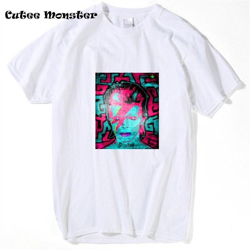 Дэвид Боуи Зигги Стардаст футболка Mens Graphic Magic футболка хлопок Высокое качество человек короткий рукав Хип-хоп футболка Размеры 3XL
