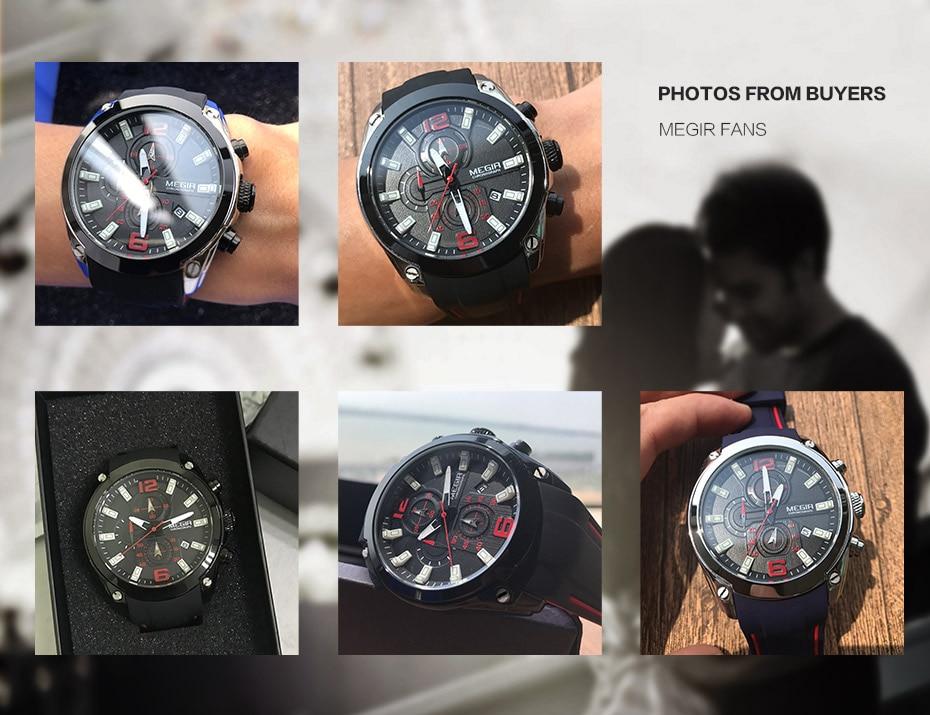 Montre de Sport Hommes ,Montre à Quartz analogique chronographe