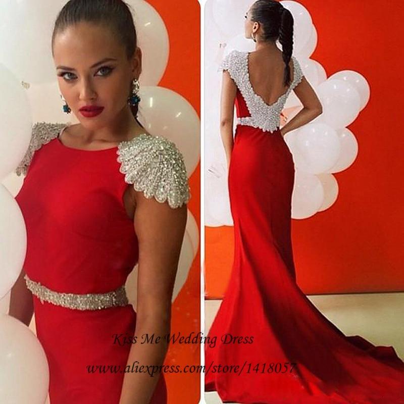 Aliexpress.com : Buy Elegant Mermaid Red Prom Dresses 2015 Long ...